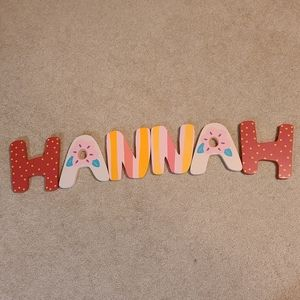 Wooden Letters Wall Decor - HANNAH